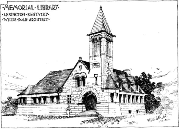 1889 &#8211; Memorial Library, Lexington, Kentucky