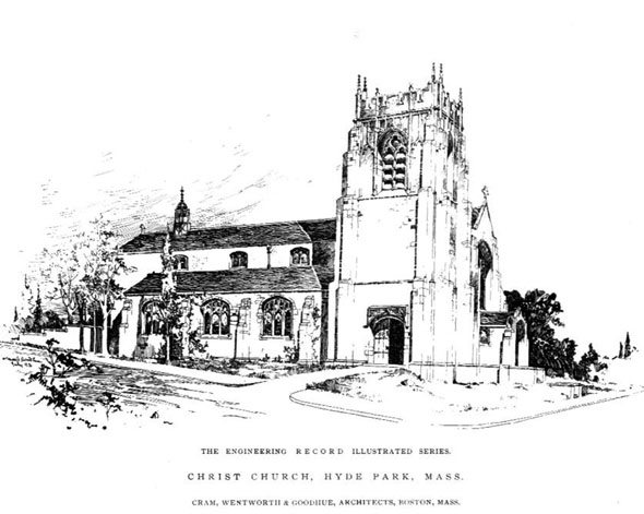 1892 – Christ Church, Hyde Park, Boston, Massachusetts