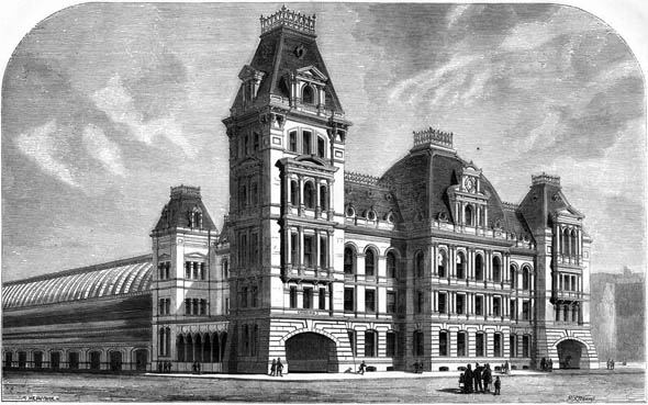 1872 &#8211; Boston &#038; Lowell Passenger Station, Boston