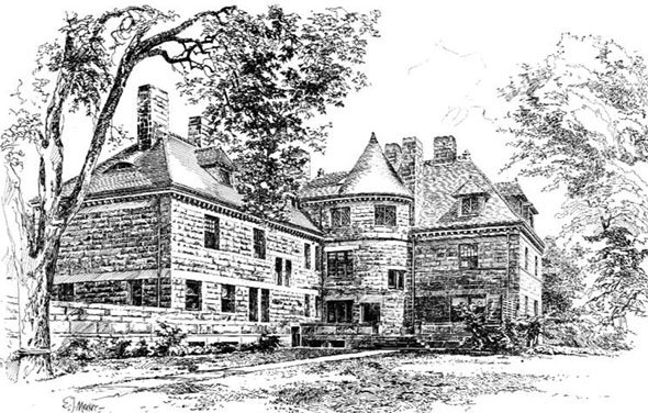 1892 &#8211; Residence of E.H.Abbott, Cambridge, Massachusetts