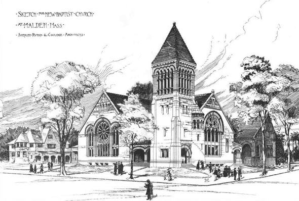 1889 &#8211; Baptist Church, Malden, Massachusetts