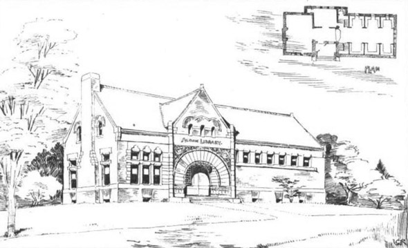 1889 &#8211; Memorial Library, Acton, Massachusetts