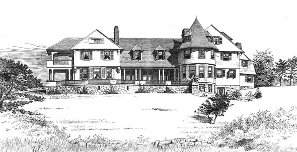 1889 &#8211; House at Wood&#8217;s Holl, Massachusetts