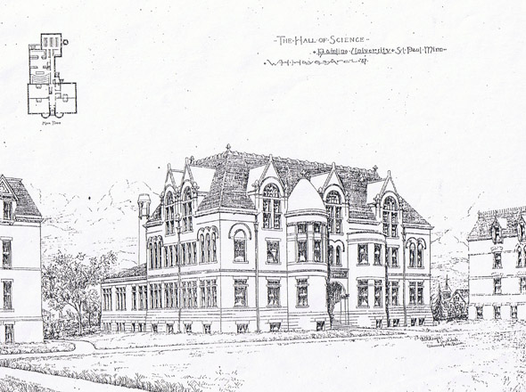 1897 – Hamline University Hall of Science, St. Paul, Minnesota