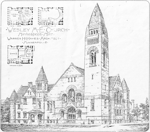1892 – Wesley Methodist Episcopal Church, Minneapolis, Minnesota
