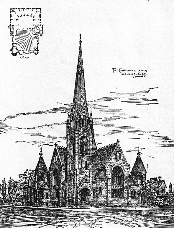 1888 - First Congregational Church of Minneapolis, Minnesota