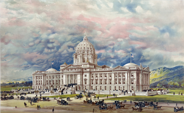 1886 &#8211; Design for State Capitol, Helena, Montana