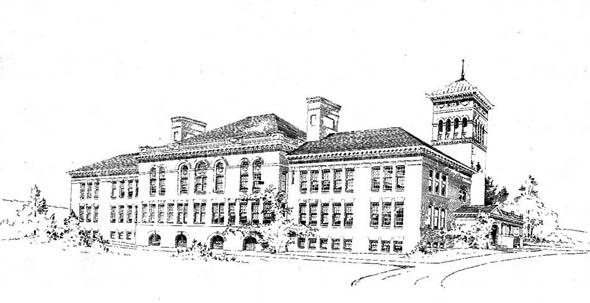 1892 – New High School Building, Montclair, New Jersey