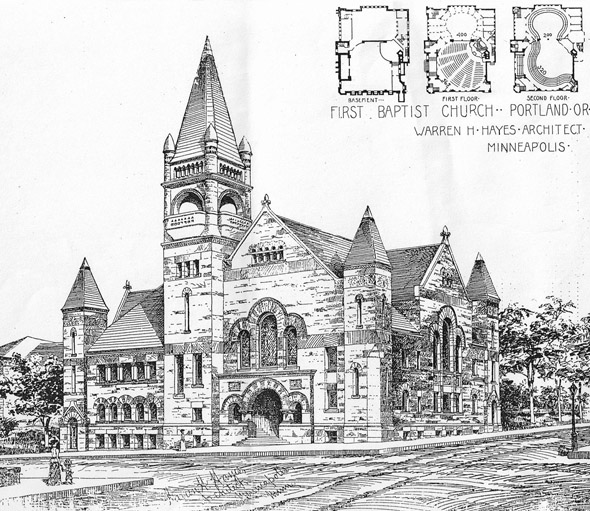 1894 &#8211; First Baptist Church, Portland, Oregon