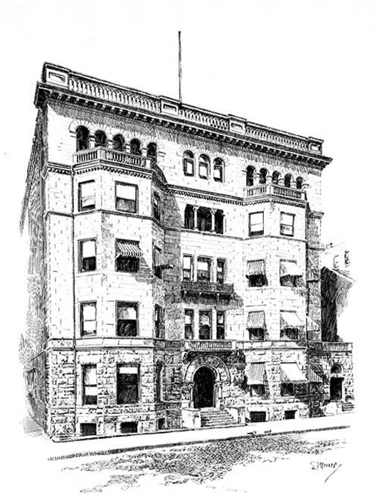 1892 &#8211; The Duquesne Club House, Pittsburg, Pennsylvania