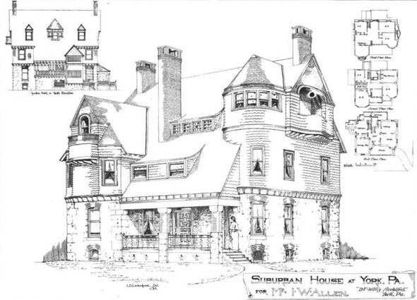 1889 &#8211; House, York, Pennsylvania