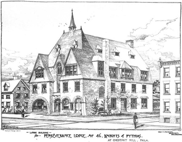 1889 &#8211; Lodge, Chestnut Hill, Pennsylvania