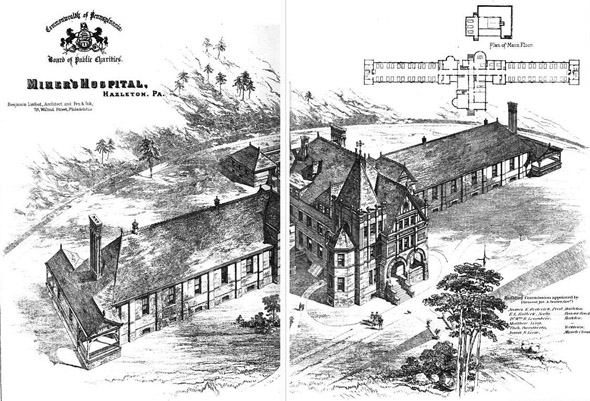 1889 &#8211; Miner&#8217;s Hospital, Harleton, Pennsylvania