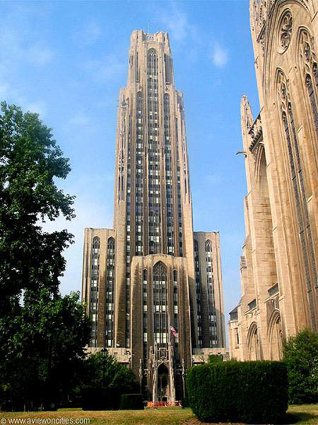 1936 – Cathedral of Learning, Pittsburgh, Pennsylvania
