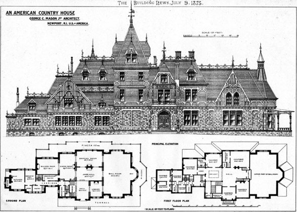 1875 &#8211; Country House, Newport, Rhode Island, USA
