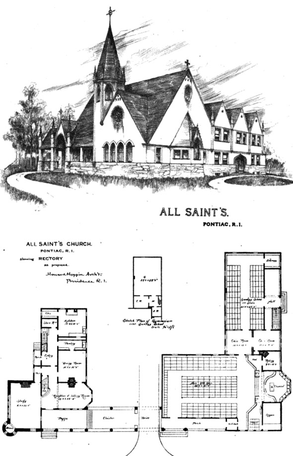 1889 – All Saint's Church, Pontiac, Rhode Island