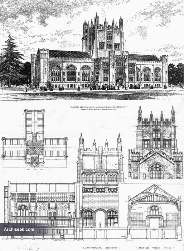 1905 – Thompson Memorial Library, Vassar College, Ploughkeepsie, New York