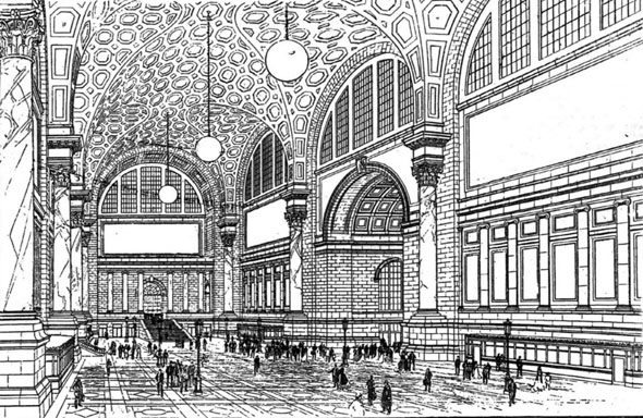 1910 – Pennsylvania Railroad Station, New York