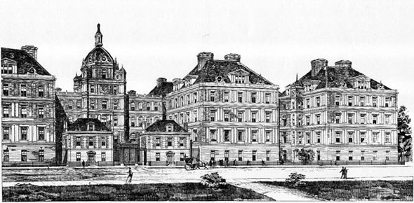 1896 –  Accepted design for St. Lukes Hospital, New York