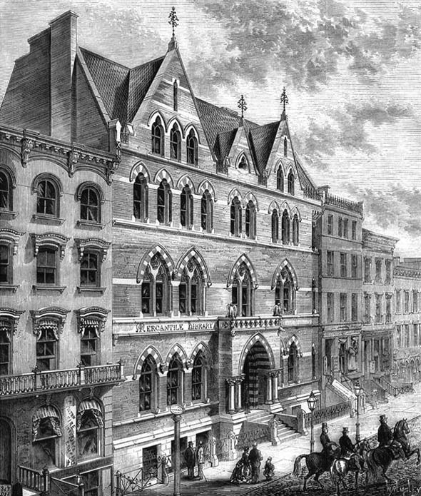 1872 &#8211; Library Building, New York