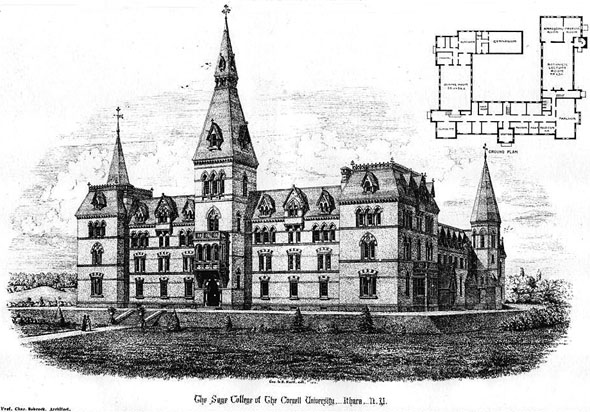 1875 – Sage College, Cornell University, Ithaca, New York