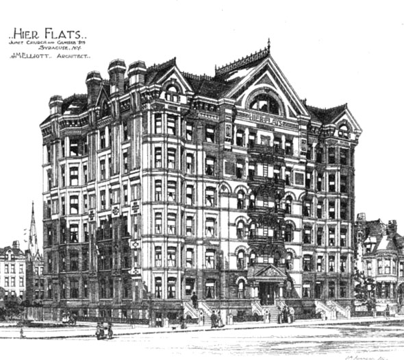 1889 &#8211; Hier Flats, Syracuse, New York