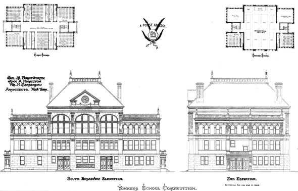1889 – Yonkers School Competition, New York