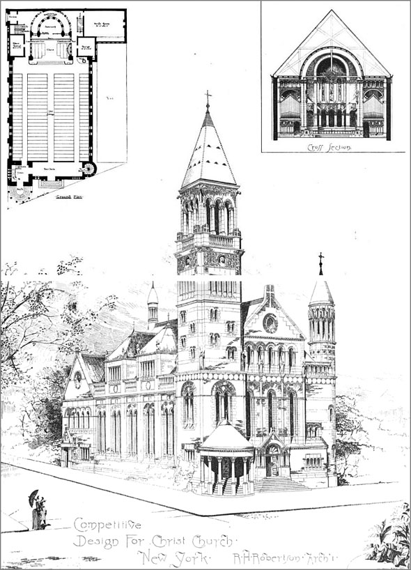 1889 – Competitive Design for Christ Church, New York