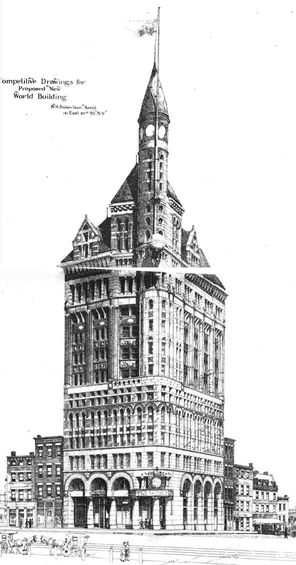 1889 &#8211; Proposed New York World Building, New York