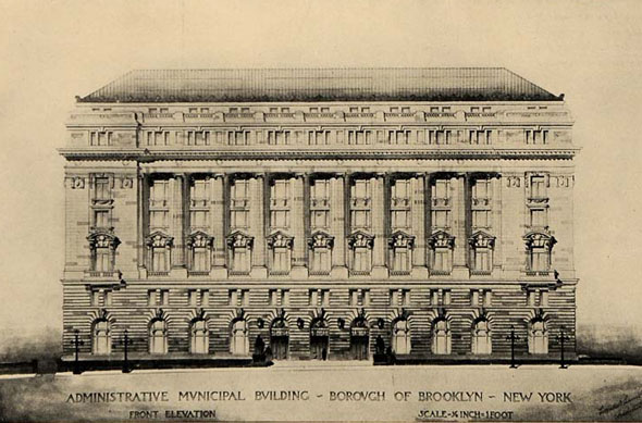 1903 – Design for Municipal Building, Brooklyn, New York