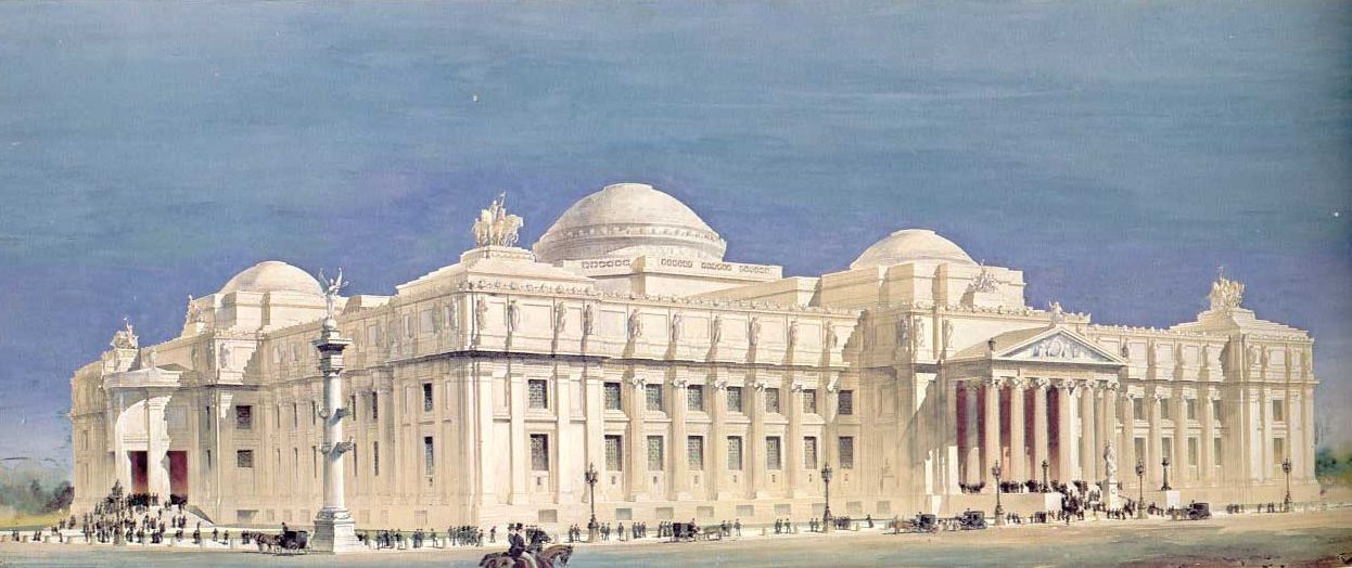 1893 &#8211; Design for Brooklyn Insitute of Arts and Sciences, New York