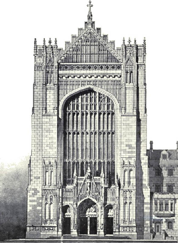 1905 – Design for St. Thomas Church, New York