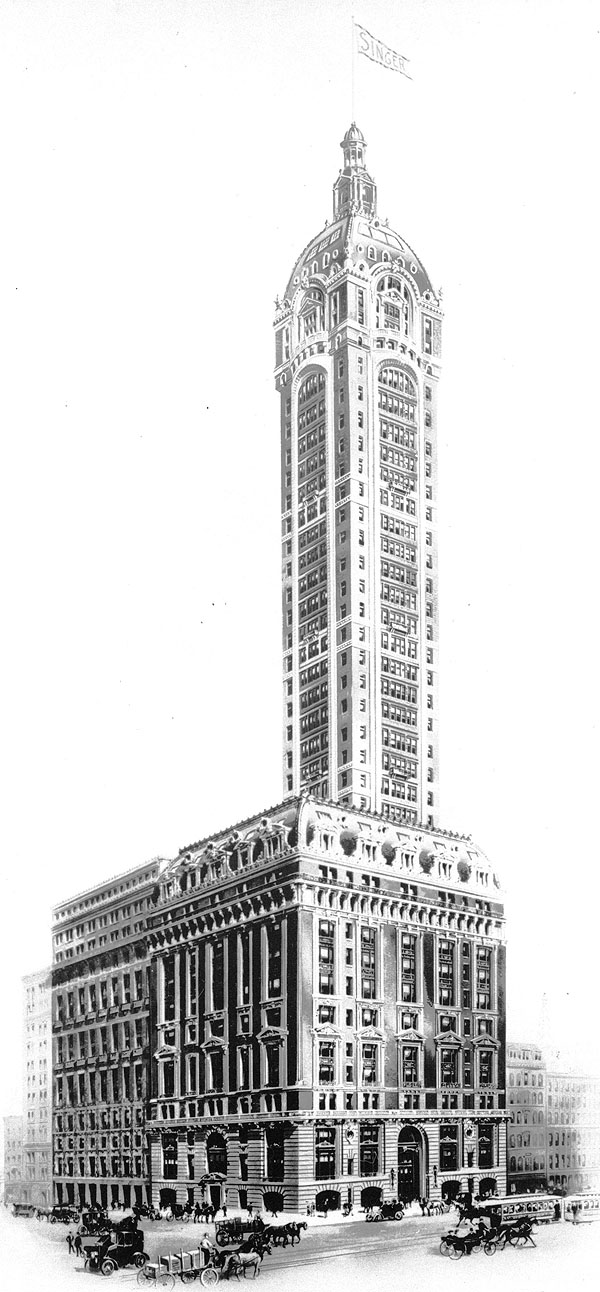 1908 – Singer Building, 149 Broadway, New York