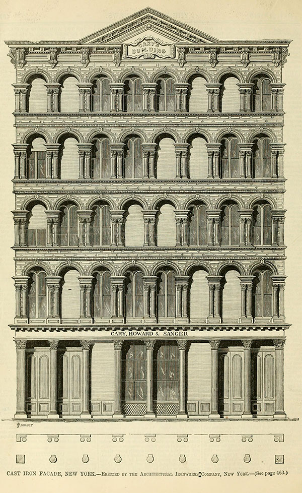 1857 – Cary Building, Chambers St., New York