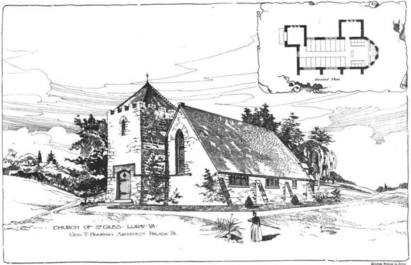 1889 &#8211; St. Giles Church, Luray, Virginia