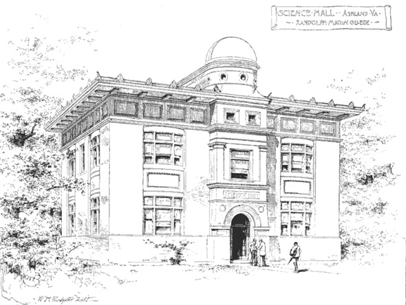 1889 – Science Hall, Randolph Macon College, Ashland, Virginia