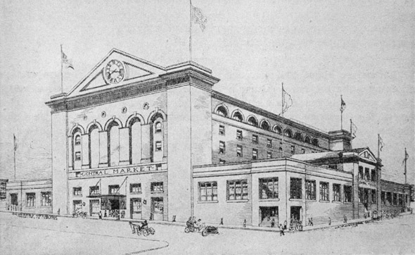 1905 – Market Building & Auditorium, Seattle, Washington