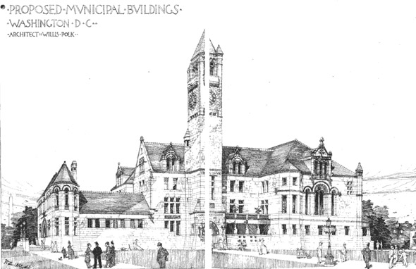 1889 &#8211; Proposed Municipal Buildings, Washington DC