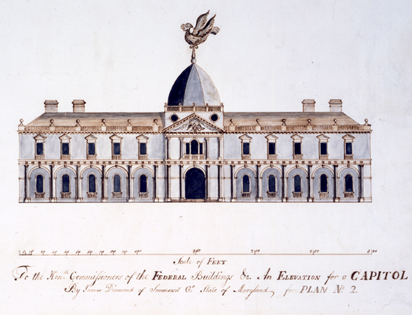 1792 &#8211; Design for Congress House, Washington DC