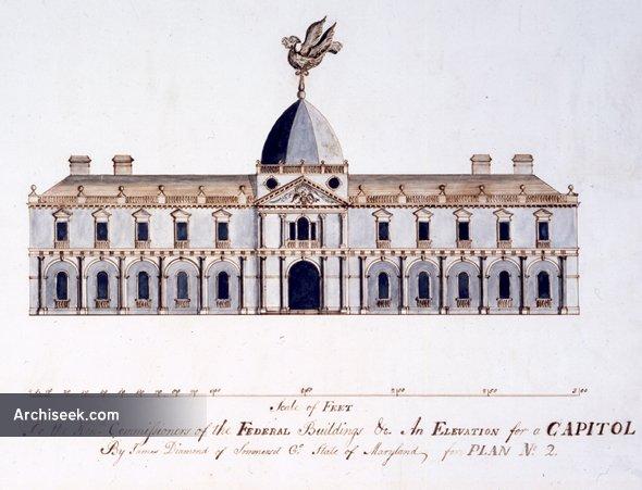 1792 – Design for Congress House, Washington DC