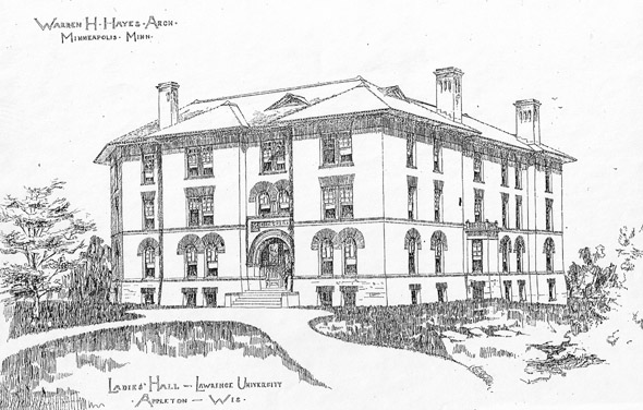 1889 – Ormsby Hall, Lawrence University, Appleton, Wisconsin